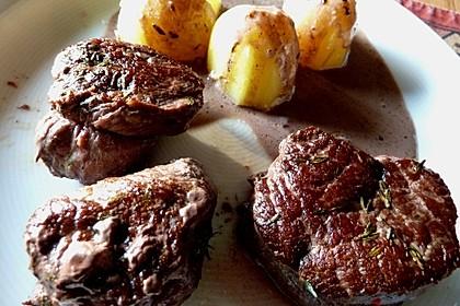 Straußen-Steaks aus dem Ofen