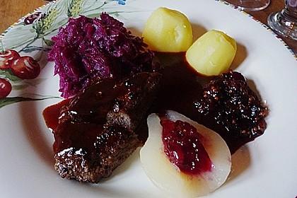 Rehrücken mit  Rotweinsauce 2