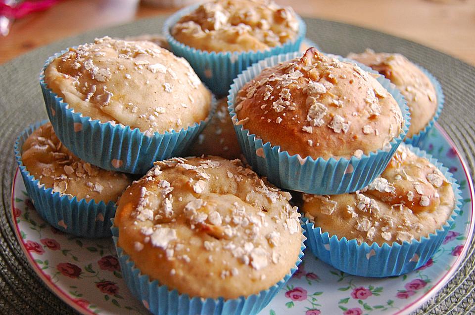 leichte apfel muffins mit haferflocken und zimt rezept mit bild. Black Bedroom Furniture Sets. Home Design Ideas