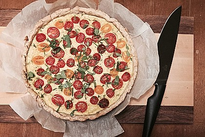 Vegane Tomaten-Quiche 4