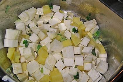 Sellerie-Kartoffelsuppe mit Shrimps 14