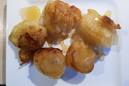 Gebackene Banane mit Honig 11