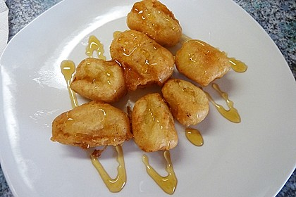 Gebackene Banane mit Honig 10
