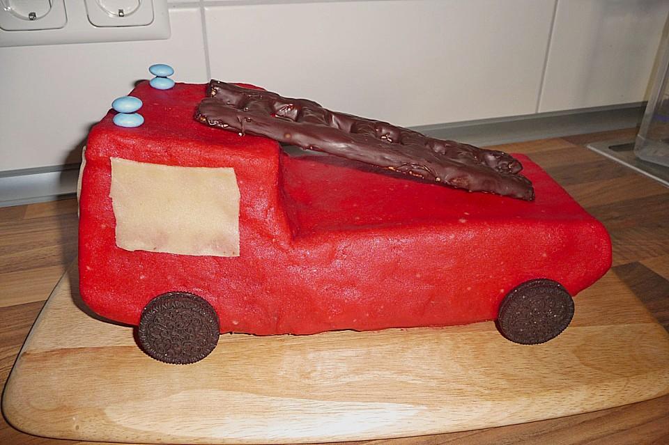 Feuerwehrauto Motivkuchen (Rezept mit Bild) von ...