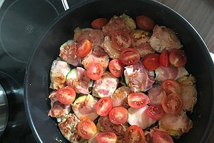 Schweinefilet mit Zucchini in Gorgonzola-Sahne-Sauce 2