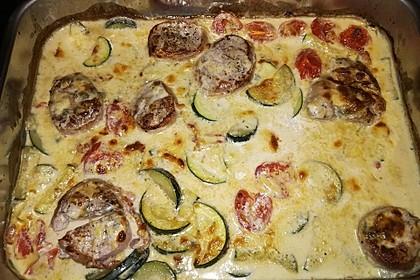 Schweinefilet mit Zucchini in Gorgonzola-Sahne-Sauce 11