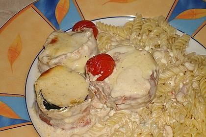 Schweinefilet mit Zucchini in Gorgonzola-Sahne-Sauce 4