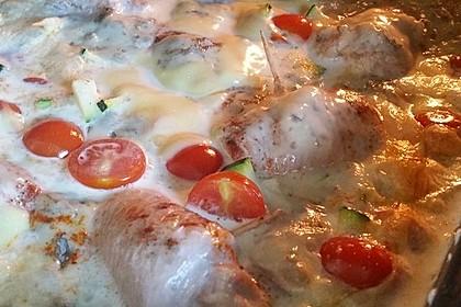 Schweinefilet mit Zucchini in Gorgonzola-Sahne-Sauce 3