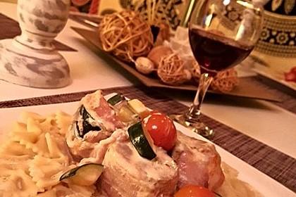 Schweinefilet mit Zucchini in Gorgonzola-Sahne-Sauce 1
