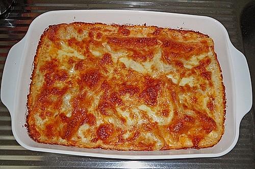 tomaten lachs lasagne rezept mit bild von mare blue. Black Bedroom Furniture Sets. Home Design Ideas