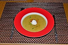 Rosenkohl-Cremesuppe