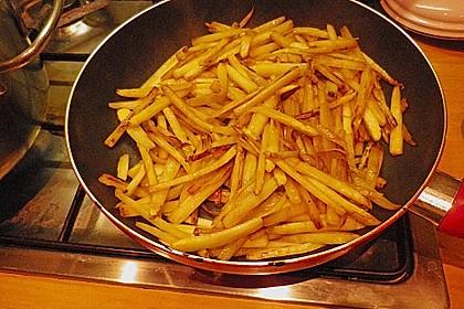 Spaghetti mit gebratenem weißen Spargel 6