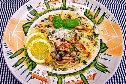 Spaghetti mit gebratenem weißen Spargel 1