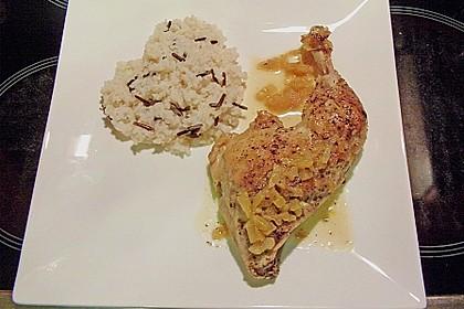 Pollo con naranjas