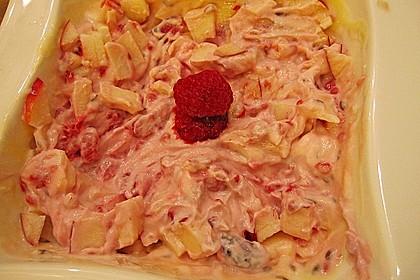 Himbeer-Quark mit Apfel, Leinsamen und Goji-Beeren 1