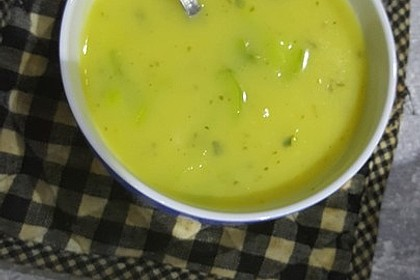 Apfel-Lauch Suppe mit Curry 11