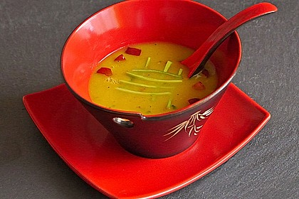 Apfel-Lauch Suppe mit Curry 4