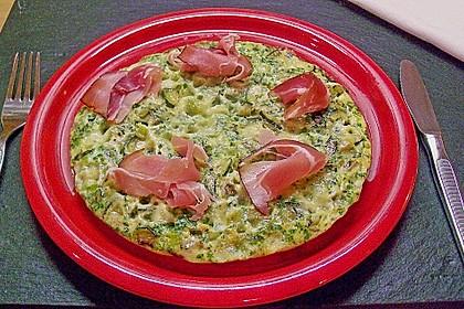 Zucchini-Frittata mit Parmaschinken