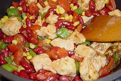 Chili mit Hähnchenfleisch-schnell gemacht 1