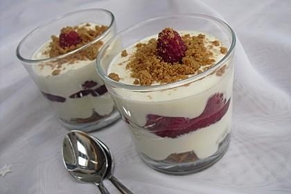 Cheesecake-Dessert im Glas