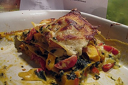 Kürbis-Mangold-Lasagne mit Ziegenkäsebechamel 2