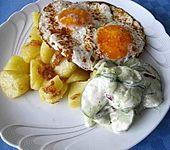 Gurkensalat mit Weißwein-Joghurt-Dressing (Bild)