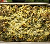 Hackfleisch-Spinat-Frischkäse Lasagne
