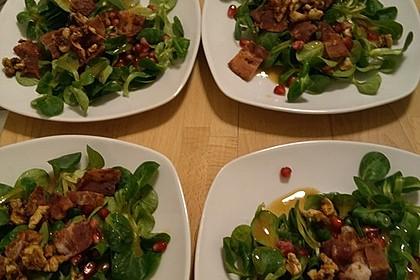 Weihnachtlicher Feldsalat mit Granatapfelkernen 19
