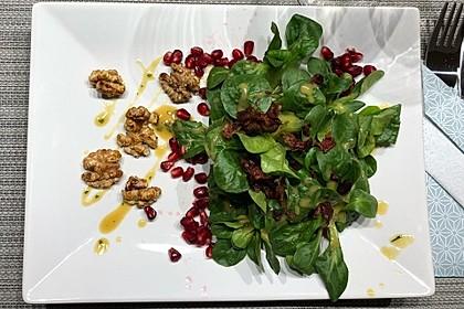 Weihnachtlicher Feldsalat mit Granatapfelkernen 13