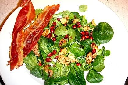 Weihnachtlicher Feldsalat mit Granatapfelkernen 15