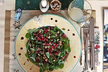 Weihnachtlicher Feldsalat mit Granatapfelkernen 17