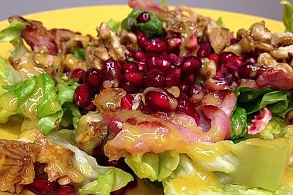 Weihnachtlicher Feldsalat mit Granatapfelkernen 8