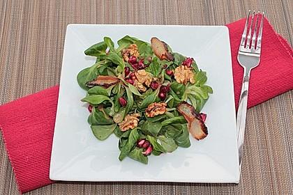 Weihnachtlicher Feldsalat mit Granatapfelkernen 9