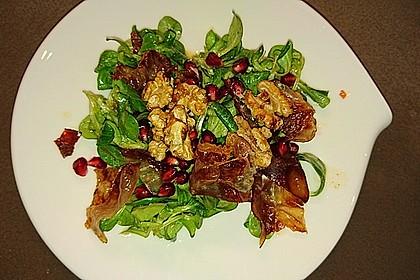 Weihnachtlicher Feldsalat mit Granatapfelkernen 12