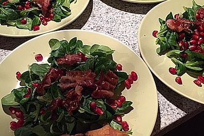 Weihnachtlicher Feldsalat mit Granatapfelkernen 14