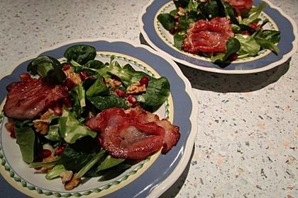 Weihnachtlicher Feldsalat mit Granatapfelkernen 21