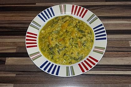 Kürbis-Spinat-Eintopf mit Linsen 4