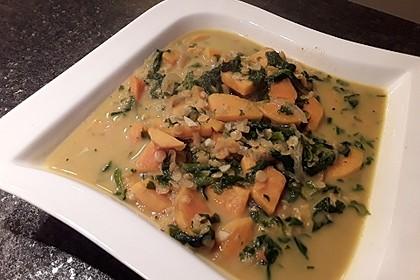 Kürbis-Spinat-Eintopf mit Linsen 29