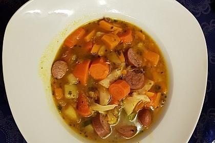 Kürbis-Spinat-Eintopf mit Linsen 23