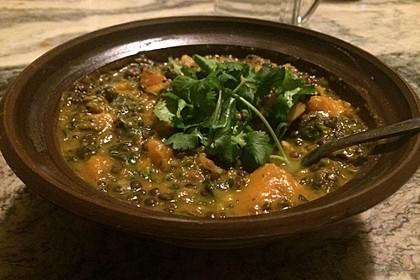 Kürbis-Spinat-Eintopf mit Linsen 19