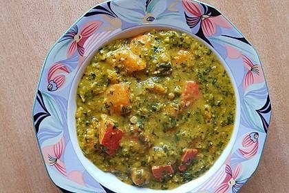 Kürbis-Spinat-Eintopf mit Linsen 18