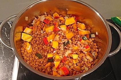 Kürbis-Spinat-Eintopf mit Linsen 10