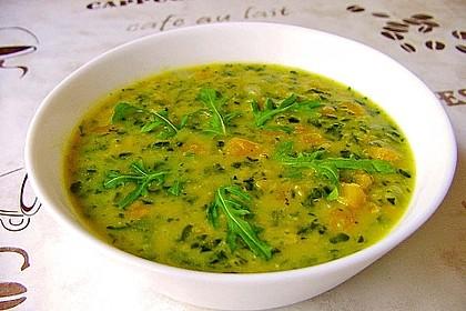 Kürbis-Spinat-Eintopf mit Linsen 5