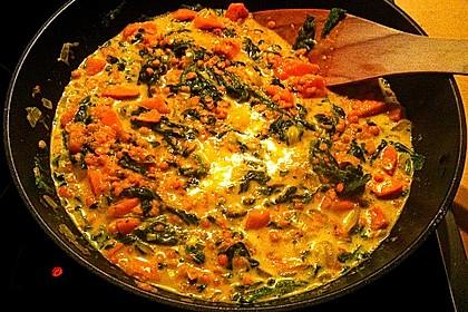 Kürbis-Spinat-Eintopf mit Linsen 12