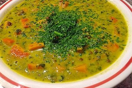 Kürbis-Spinat-Eintopf mit Linsen 11