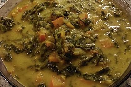 Kürbis-Spinat-Eintopf mit Linsen 15