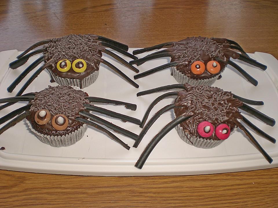 spinnenmuffins f r halloween rezept mit bild von. Black Bedroom Furniture Sets. Home Design Ideas