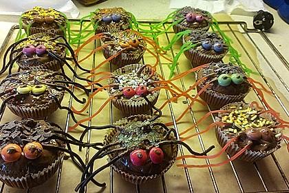 Spinnenmuffins für Halloween 26