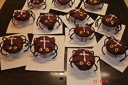 Spinnenmuffins für Halloween 17