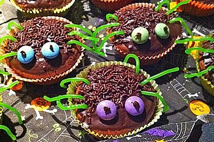 Spinnenmuffins für Halloween 21